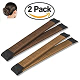 Hair Bun Maker French Twist Hair Fold Wrap Snap (1 Brown, 1 Light Brown)