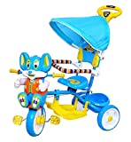 #5: Baby Tricycles Mickey Mouse FACE with Good Quality wheels and Musical with Parental Control Learn to Ride Trike Suitable for Boys & Girls