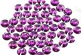 Pack de 50 diamantes de imitación redondo de forma Rivoli de EIMASS, hechos de resina, con parte trasera plana, para coser o pegar en disfraces, ropa y otras manualidades
