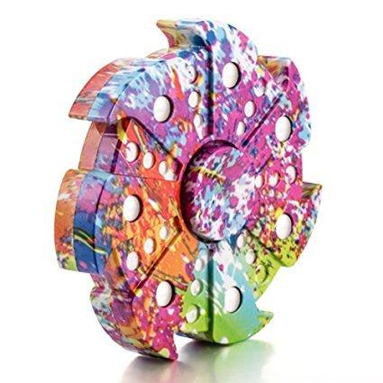 TANAINA Fidget Hand Spinner Tri Fidget Mano Dito Spinner Spin Widget Focus Giocattolo - Rotazione da 1-3 minuto - Perfetto per adulti -