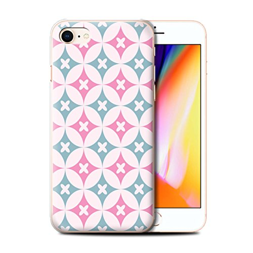 Stuff4 Hülle / Case für Apple iPhone 8 / Blau/Braun Muster / Kaleidoskop Kollektion Pink/Blau