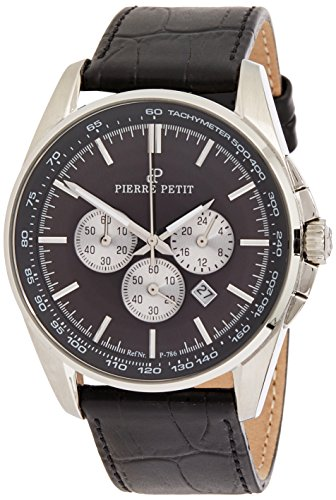 Pierre Petit Men's Quartz Watch Le Mans P-786A with Leather Strap