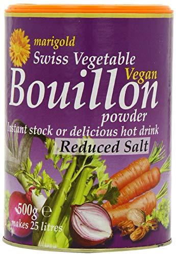 Marigold Vegan Bouillon Powder, Less Salt 500 g (Pack of 2)