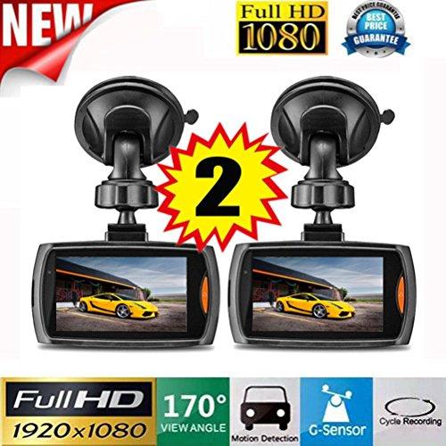 2x Auto Dash Cam Telecamera per Full HD 1080P, 2.4