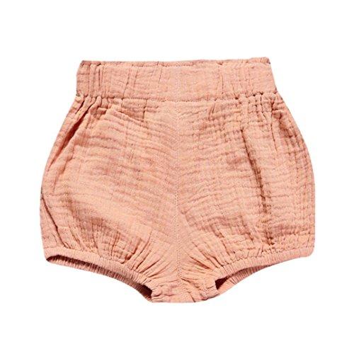 JERFER Säugling Kleinkind Kinder Unterwäsche Nettes Baby Mädchen Jungen Dot Geometrische Shorts Hosen Leggings 6M-5T (Rosa, 12M)