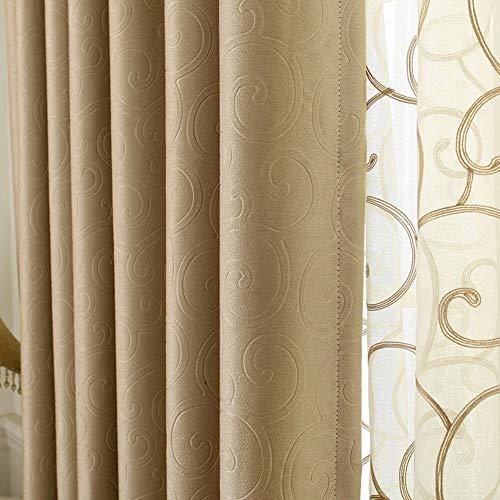 KELE Moderne Einfache Vorhang, Wohnzimmer Schlafzimmer Bay Window pad Dick Reine Farbe Doppel Suede Volle schattierung Schatten Fertig Fenster Vorhang Aus Stoff-C W:250XH:270cm