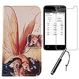 Lankashi Wing Girl Design 3in1 Zubehör Set PU Flip Leder