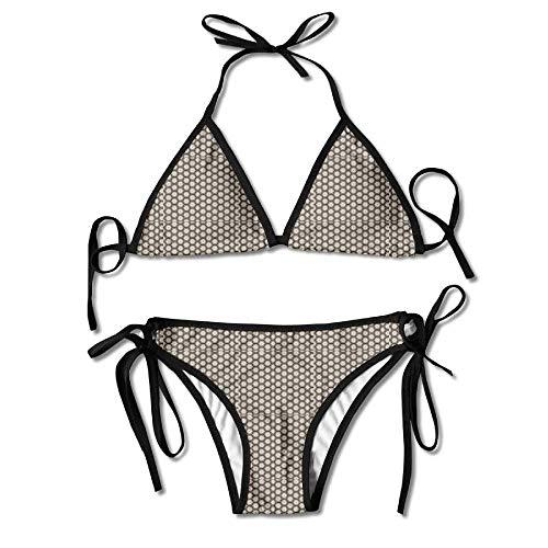 Sliding Top-panels (KLYDH Woody Panel Love Scent Womens Triangle Top Bikini Swimsuit Sliding Swimwear)