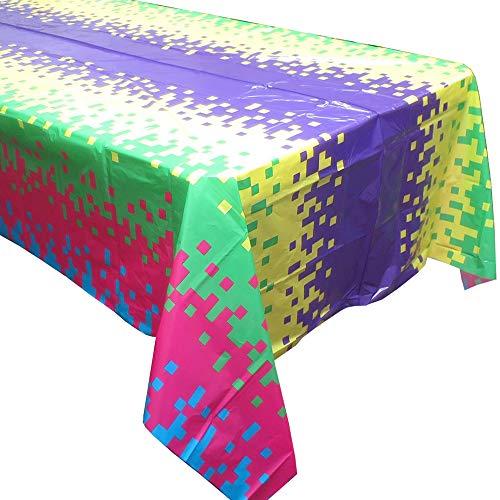 Pixel Party tablecovers (2), Video Game Party Supplies, Pixel Party Geschirr, großartig für Bergbau Partys, Gaming Feiern und vieles mehr. (Video-spiele, Party Supplies)