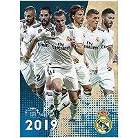 Real Madrid Offizielles 2019 Fußball Kalender 420mm x 297mm (A3)
