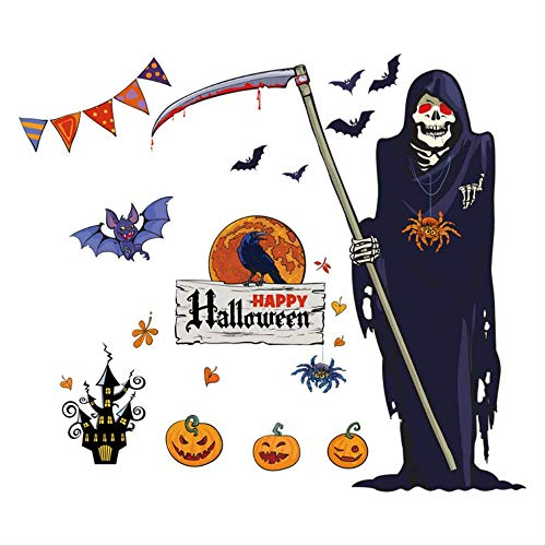Halloween Eco-Friendly Decorative Painting Bar Haunted House Patty Sticker Pvc Waterproof Wall Sticker 60Cm*90Cm