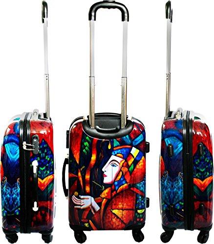 ABS Hartschalen Koffer mit Teleskopgriff und Zahlenschloss Girl