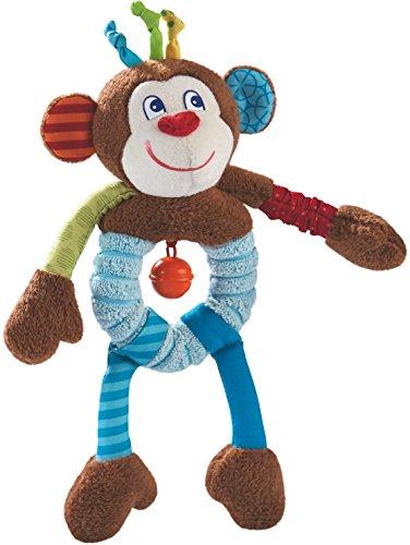 HABA 302999 - Greiffigur Affe Lino | Kuscheltier mit vielen Effekten zum Spielen und Entdecken | Baby-Spielzeug ab 6 Monaten