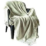 Dekorative Decke Baumwolle riesigen Haferflocken Throw - Vintage Reversible leichte Gaint Sofa Abdeckung werfen indische dekorative gesteppte & Warm Decke Bett für Sofa und Couch 127 cm x 152 cm