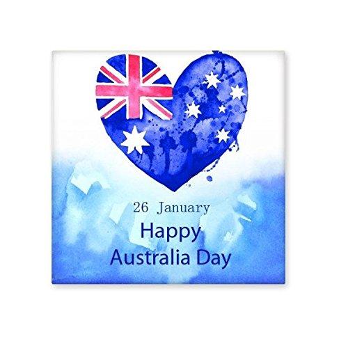 n Flavor Happy Australia Day Herz-Form-Flagge Illustration Keramik Bisque Fliesen für Dekorieren Badezimmer-Dekor Küche Keramische Fliesen Wandfliesen M ()