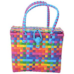 Shraddha Collections Picnic Basket(8 x 10.5 x 7in)