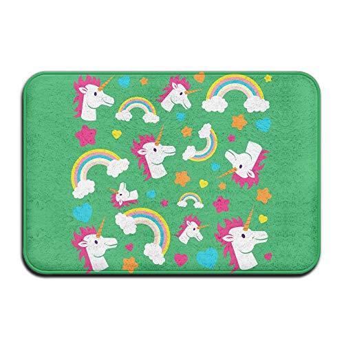 Klotr Fußabtreter, Home Door Mat Unicorn Rainbow Doormat Door Mats Entrance Rugs Anti Slip 40x60 cm for Indoor Outdoor