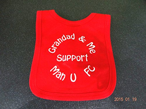 PERSONALISED MAN U BIB - GRANDAD & ME SUPPORT MAN...