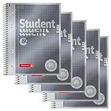 5 BRUNNEN Collegeblöcke Student Premium A5 kariert