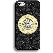 Michael Kors Hard Plastic Black Cover, Michael Kors Phone Custodia Cover, Michael Kors iPhone 6 Plus/iPhone 6S Plus(5.5inch)