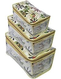 DIVYANA™ Travelling Kit Make Up Kit Toiletry Bag Multi Purpose Kit - Set Of 3 Pcs (Printed- Multicolour)