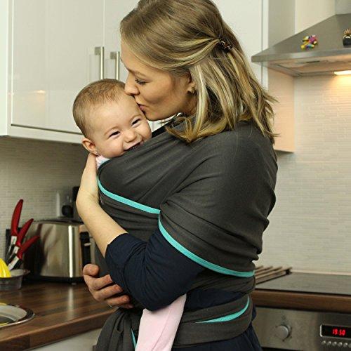 Ergonomisches Babytragetuch | Bio-Baumwolle | Für Neugeborene & Kleinkinder geeignet | Einheitsgröße | Bequemer & beruhigener Stoff für Babys | Die Babyboon Tragehilfe fördert die Bindung von Eltern und Kind | JETZT TESTEN! - 6