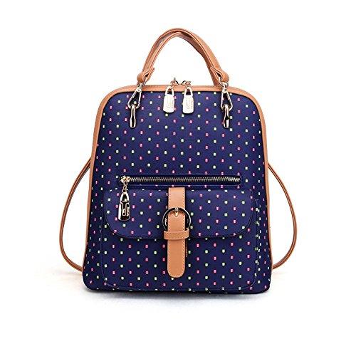 Mefly Summer School Student Tasche Dark blue dots