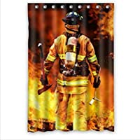Best Seller Curtain-Firemen And Fire Design Fire Department Custom 100% Polyester Waterproof Shower Curtain 48 x 72