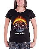 Black Sabbath T Shirt damen The End tour 2016 Nue offiziell Schwarz skinny fit