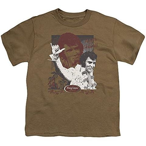Hang Loose, motivo: Elvis Presley, Aloha Youth Safari Green S/S-T-Shirt da ragazzo