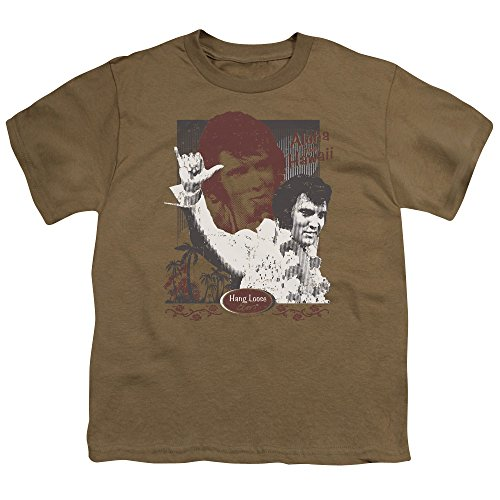 Hang Loose, motivo: Elvis Presley, Aloha Youth Safari Green S/S-T-Shirt da ragazzo Safari Green