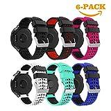 YaYuu Garmin Forerunner 235 Cinturino,Ricambio Sportivo Cinturino Morbido Silicone Cinturino da Polso Fascia per Forerunner 235/220/230/620/630/735XT Smart Watch (A, 6 Pacco)