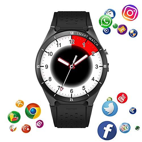 KDSFJIKUYB Smartwatch KW88 Pro Smart Watch 1 GB RAM 16 GB ROM MTK6580 3G GPS WiFi Android 7.0 Smartwatch Unterstützung Google Weather, schwarz Google Android Gps