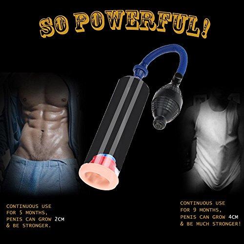 Anself Penis Pumpe Sex Vakuumpumpe mit 3 Gummistopfen für Männer - 5