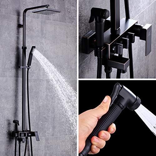 LWSFZAS Designer Bad Dusche Set Wasserhahn Einhand Quadrat BadewanneBrausebatterien EinhandOutdoorWarm-und Kaltwasserhahn Bidet SprayerMR216-08