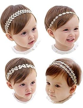 Hocaies Bebé Arco del pelo de la venda elástico Bebé Cinta Para El Pelo Infantil Algodón Sólido Mariposa Niñas...