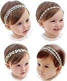 Hocaies Baby Hair Band Ragazza Partito Fascia Testa Cinghia Fiore Testa Libro Capelli Nastro Bambino Doni Battesimo Set Regalo (02) (01)