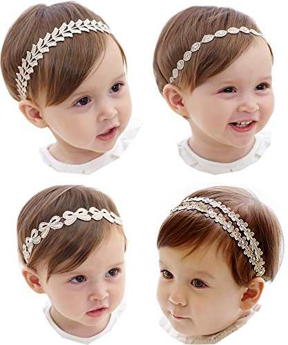 Hocaies Baby Kinder Haarband Mädchen Stirnband Kopfband Blumen Blüte Haarschmuck Headband Hairband (02)
