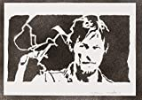 moreno-mata Daryl Dixon The Walking Dead Handmade Street Art - Artwork - Poster