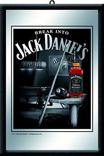 Nostalgic-Art 80710 Bier und Spirituosen Jack Daniels Billard, Spiegel, 20 x 30 cm