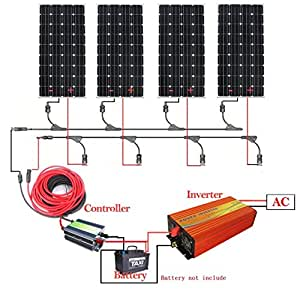eco worthy 600w 12v monokristallin solarpanel solarmodul. Black Bedroom Furniture Sets. Home Design Ideas