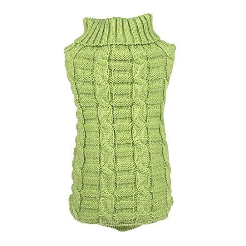 sourcingmap® Klein Haustier Hundekleidung Welpen Katze Warm Strickjacke Winter Kleid Kostüme (27 Kleider Kostüme)