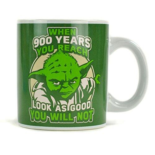 Wars Star Kaffee (Star Wars™ Yoda Becher, für Star-Wars-Fans, Steingut, 350 ml, spülmaschinenfest)