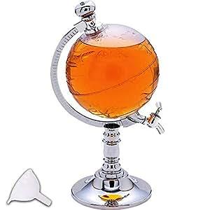 Lychee 65 oz Globe Distributeur de boisson Drink Bière Machine à pompe simple Alcools Keg Tea Pot 1/2 Gallon
