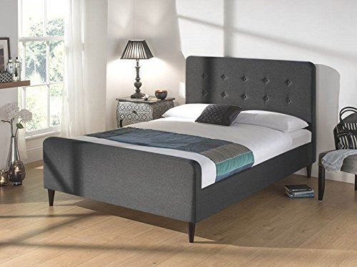Snuggle Beds Sienna Dark Grey 3FT Single Fabric Beds