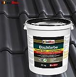 Dachfarbe Sockelfarbe Dachbeschichtung Dachlack Dachsanierung Polymermembran 20 kg Anthrazit