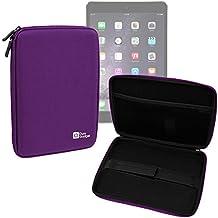 DURAGADGET Funda Rígida Morada Para Apple iPad Air 2 ( Wi-Fi, Wi-Fi + Cellular ) - Con Cremalleras De Alta Resistencia Y Bolsillo Interno