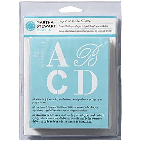 Martha Stewart Large Alphabet Stencils 48/Pkg-Mixed