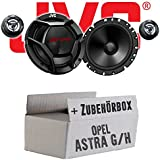 Opel Astra G,H - JVC CS-DR1700C - 16cm 2-Wege Lautsprecher System - Einbauset