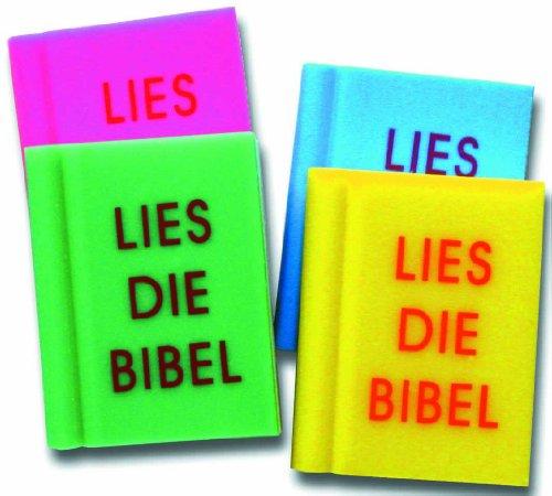 Radiergummi GRÜN 'Bibel' in Buchform, 3 x 4 cm,